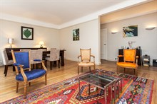 Furnished 2-room short-term rental for 4 with double bed and fold-out couch in the Swiss Village, Paris 15th