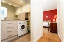 Furnished 2-room short-term rental complete with washing machine for 4 in the Swiss Village, Paris 15th