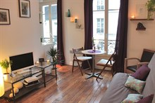 Weekly rental, 2-person studio in the Latin Quarter, rue des Patriarches, Paris 5th