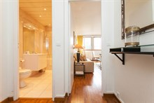 Spacious apartment available for short-term rental at rue des Bauches, Paris 16th - Perfect for business stays
