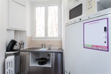 For rent by the week or month: furnished 4-person apartment w/ 2 rooms in the Batignolles, Paris 17th