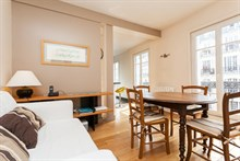 Lovely 2 room apartment for 4 with balcony, rue de Courcelles, Paris 17th