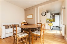 Monthly rental of a furnished and fully equipped apartment, rue de Courcelles, Paris 17th