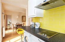 Furnished and fully equipped 2-room apartment for 4 with long balcony, rue de Courcelles, Paris 17th