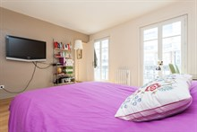Rent for one week+, furnished and fully equipped with 2 rooms on rue de Courcelles, Paris 17th
