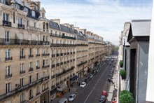 Short-term rental of a 2-room furnished apartment with balcony at rue de Courcelles, Paris 17th