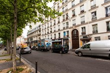 studio apartment furnished to rent weekly for 2 guests boulevard de la Villette Paris 19th district