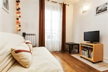 weekly rental studio for 2 guests on Avenue de Saint Ouen Paris 18th
