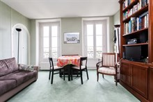 Weekly rental of spacious apartment for 4 rue Fabert F2 Invalides, Paris VII
