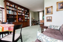 Monthly rental apartment sleeps 4 on rue Fabert opposite les Invalides Paris VII