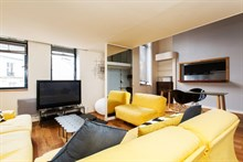 Trendy duplex flat for short term rental with two bedrooms near Parc Monceau Paris 17th