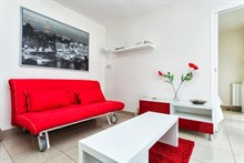 rent a 1 bedroom apartment, 334 sq ft, for 2 or 4 guests in paris 11th district