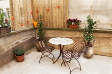 short term rental of a 1 bedroom apartment with terrace for 2 or 4 guests, rue de Montreuil, Paris 11th district