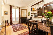 handsome furnished apartment to rent for the month, 1 BR for 2 guests, bastille paris