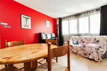 Monthly rental of a 2-room furnished apartment, sleeps 4, Near Montmartre Paris 18th