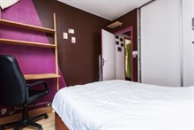Weekly lodging for last minute holidays near Montmartre Paris 18th, Fully furnished with 2 rooms