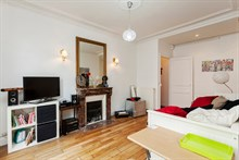 Short-term lodging for 4 in furnished 2-room flat w/ 2 rooms, rent by week or month, Cambronne Paris 15th