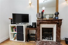 4-person holiday flat for weekly or monthly rent on rue Cambronne, Paris 15th, 2 spacious rooms, furnished