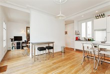 Short-term Paris vacation rental at Cambronne in Paris 15th district, perfect for family or friends, sleeps 4 w/ 2 rooms
