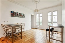 Short-term 4-person family vacation rental in furnished 2-room apartment, Cambronne Paris 15th