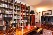 For rent: turn-key furnished apartment w/ library and 2 bedrooms sleeps 4 at Republique Paris 10th