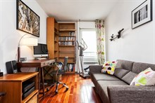 Large apartment for short-term rent , 3-rooms w/ balcony, fully furnished at Republique Paris X