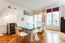 Short-term, furnished 2-bedroom kid-friendly apartment for family of 4 at Turbigo in the Marais Paris 3rd