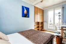Romantic monthly vacation rental, turn-key w/ 2 modern bedrooms w/ balcony in Marais at Turbigo Paris 3rd
