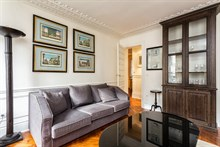 Roomy furnished flat for 4, 2-bedrooms, available for short-term rental, conveniently located on rue du Temple in the Marais, Paris IIII