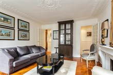 Short-term, furnished 2-bedroom child-friendly apartment for family of 4 at Hotel de Ville, 4th district in the Marais