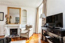 Spacious accommodation for 4 available for short-term stays, furnished with 2-bedrooms at Hotel de Ville, Paris 4th