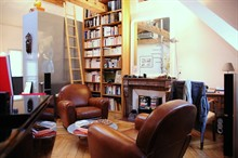 temporary rental loft for 3 guests 540 sq ft St Sulpice Paris 6th