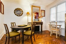 Weekly accommodation for 4 in luxurious furnished 2-bedroom flat at Hotel de Ville, Paris 4th