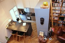 short term rental studio furnished for 3 in St Sulpice Paris 6th