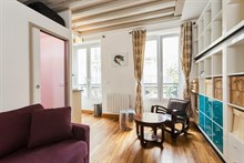 Short-term studio apartment rental for 2, rue des Dames, Paris 17th