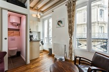 For rent: furnished studio apartment w/ spacious living room on rue des Dames, Paris 17th