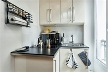 Live like a Parisian local in the Batignolles district, Paris 17th: furnished studio flat available for short stays