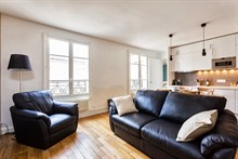 4-person apartment w/ 2 rooms for monthly rent, furnished with double bedroom, Goncourt Paris 11th