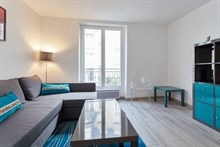 Short-term studio apartment rental sleeps 2 or 4, 2 large bed surfaces at Paris 5th
