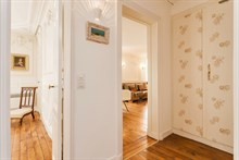 3-person holiday 2-room flat for weekly or monthly rent on Rue du Buis, Paris 16th, fully furnished