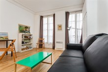 Modern, furnished vacation rental for short-term stays, sleeps 2 at Montorgueil, Paris 2nd