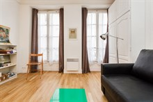 Turn-key studio apartment for 2 guests at Montorgueil, Paris 2nd, rent short-term