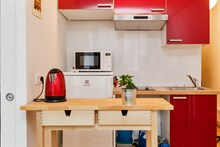 2-person studio flat for holiday rental, week or month, Montorgueil, Paris 2nd