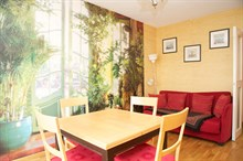 Turn-key 3-room apartment near Jourdain metro, Paris 19th, available for business stays by the week or month
