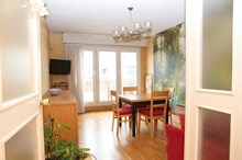 Monthly rental of a fully equipped 3-room apartment near Jourdain metro Paris 19th, 2 or 4 person