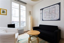 Accommodation for 4 in spacious 2-room apartment near Canal Saint Martin, Paris 10th