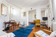 Monthly rental of a 2-room apartment for 4 in a modern building near Montparnasse Tower, Paris 14th