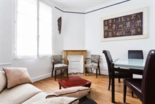 Monthly rental with 3 rooms, furnished, for 2 guests at Neuilly near Paris