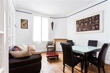 Extended vacation rental for 3 with 2 bedrooms, furnished Neuilly apartment near Paris