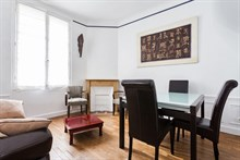 Furnished 2-bedroom flat near Paris in Neuilly for 2 to 3 guests, perfect for holidays lasting several months